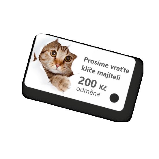 Plastová klíčenka s motivem (kočka)